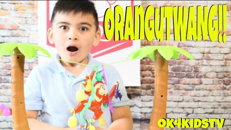 Keelans Toy Review - ORANGUTWANG BY PLAYMONSTER - Hang till you Twang!!Ok4kidstv
