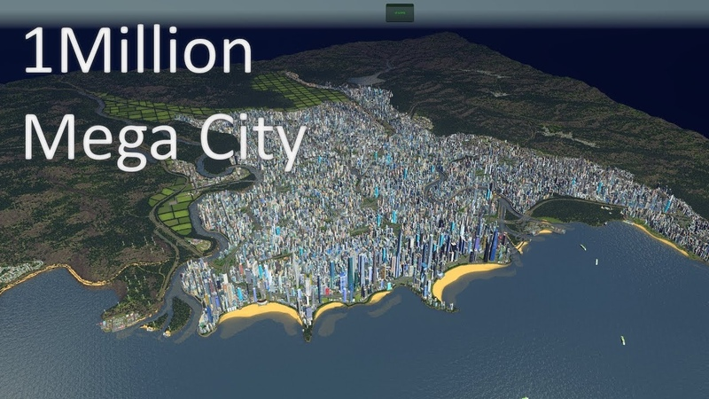 Cities Skylines - 1 Million Population Mega City cinematic video (4K)