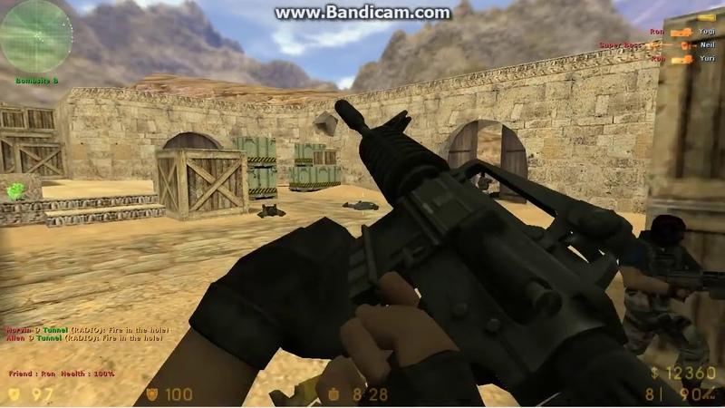 Counter strike 1.6 Gameplay de dust 2