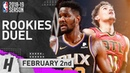 Trae Young vs DeAndre Ayton ROOKIES Duel Highlights Suns vs Hawks 2019 02 02 27 Pts for Trae