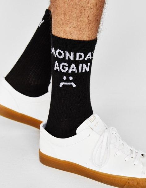 Набор из 3 пар носков с надписью