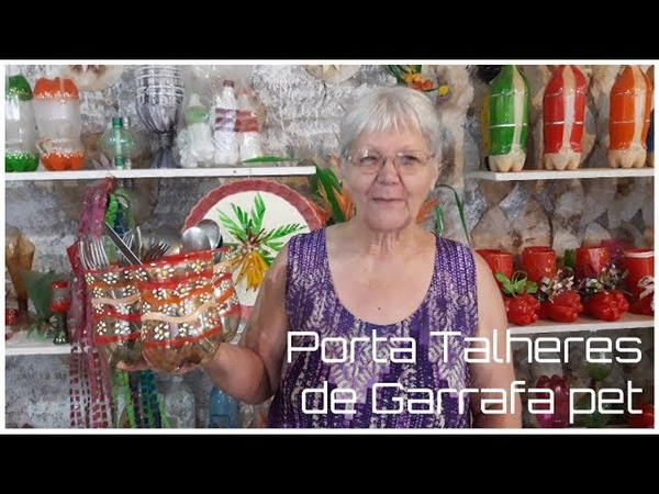Porta Talheres de Garrafa pet   Vó Neide e suas pets
