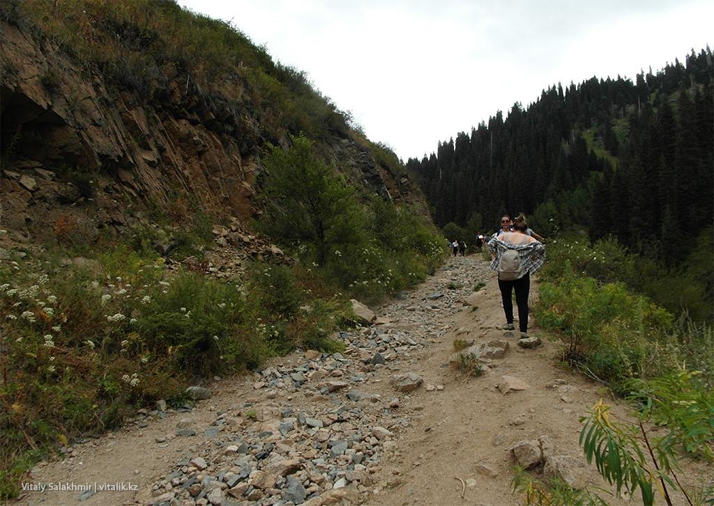 Туристы в Кимасаровском ущелье 2018