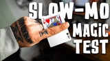 Sleight of Hand in SLOW MOTION - Is the hand quicker than the eye! (Bad idea)
