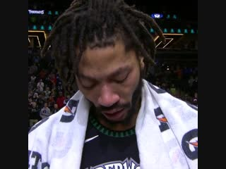 """I worked my ass off."" - Derrick Rose emotional after a career high 50."