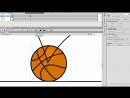 Траектория движения и деформация мяча. Adobe Flash