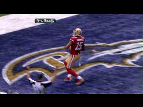2012 Super Bowl XLVII: San Francisco 49ers wide receiver Michael Crabtree highlights