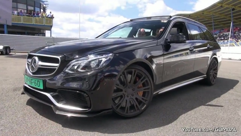 850HP BRABUS Mercedes-Benz E63 AMG 6.0 V8 Biturbo Estate - SOUND! Брабус, машина