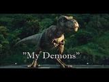 T-Rex and Raptors - My Demons Happy Birthday GodOfTheWolfs and Ivie Walden