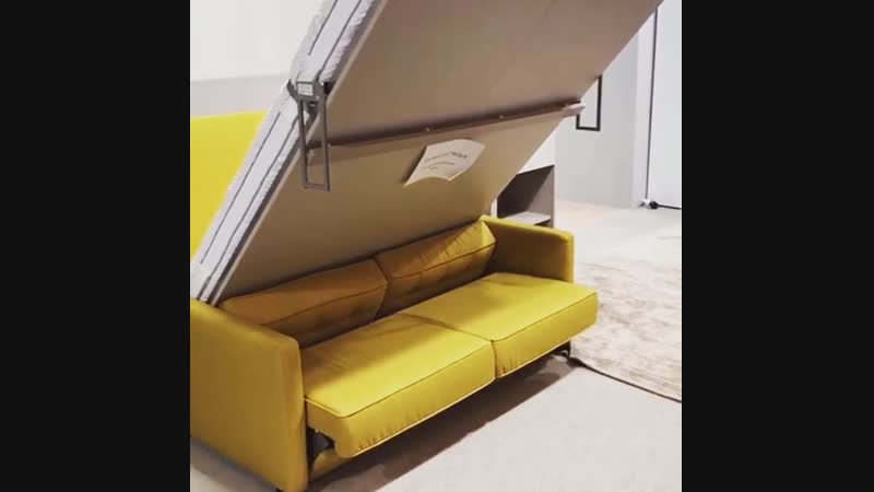 Шкаф кровать диван трансформируется через пульт управления