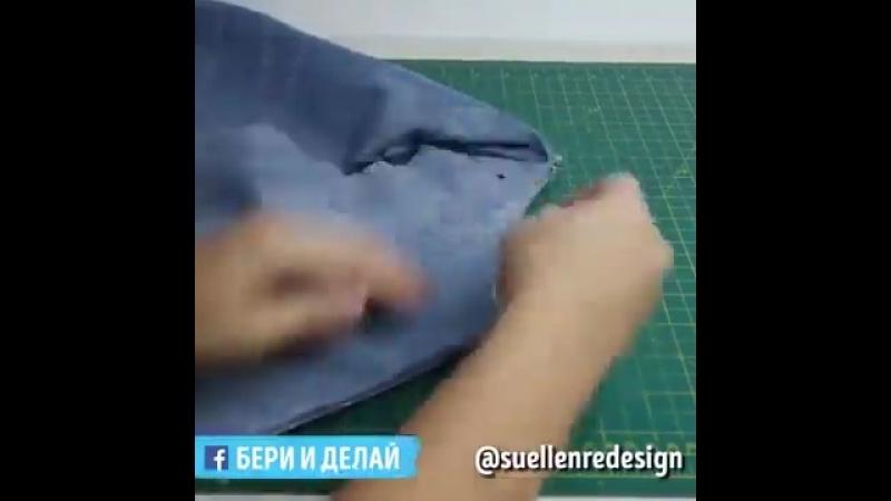 Стильный топ из пары джинсовых штанин.