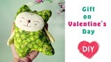 How to sew a cat Valentine's Day. Cute fabric cat with your own hands.