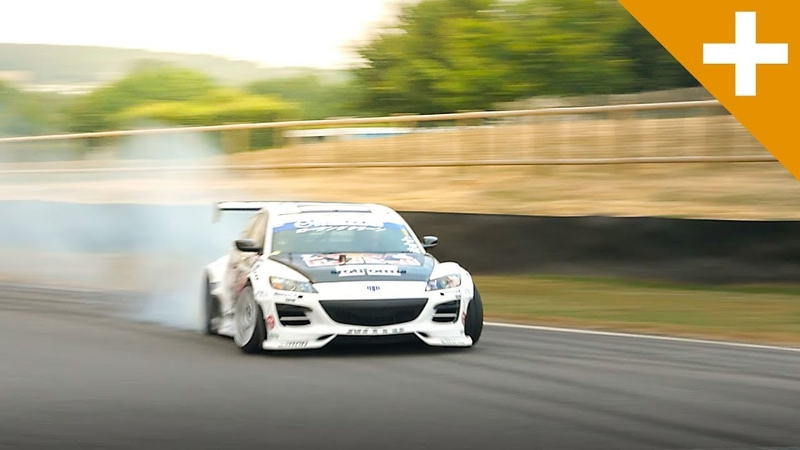Mad Mike Drifts His RX 8 So Much Smoke We Set Off The Goodwood Smoke Alarm Carfection