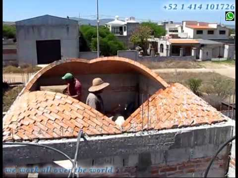 Extraordinary Brick dome roof build, The Art of Bricklaying.