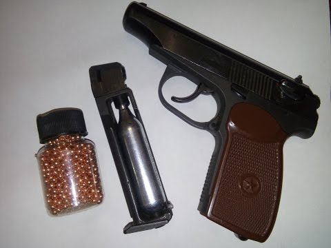 МР-654. Пневматический пистолет Макарова.