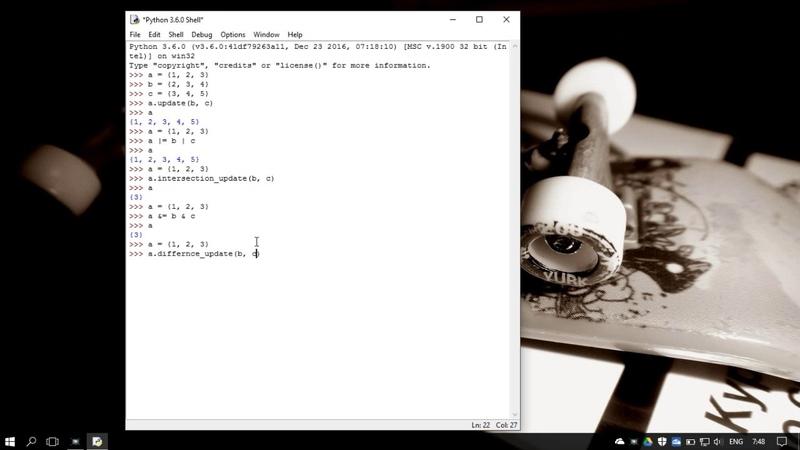 42. Методы работы со множеством set в Python 3 - set methods (Уроки Python) RU