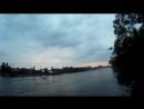 идем по новому мосту с Елагина острова на Крестовский
