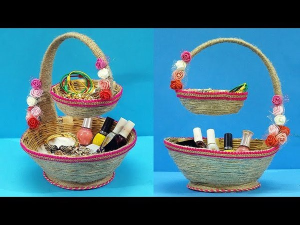 Amazing way to Reuse Old basket to make DIY Organizer | Easy Best out of Waste