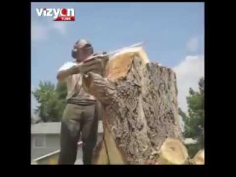 Harika bir ağaç işleme oyma sanatı