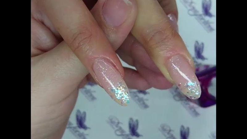 Наращивание ногтей гелем на типсы