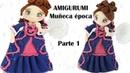 Amigurumi muñeca de época, parte 1/5 patrón gratis