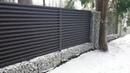 Забор Жалюзи комбинированный с габионами