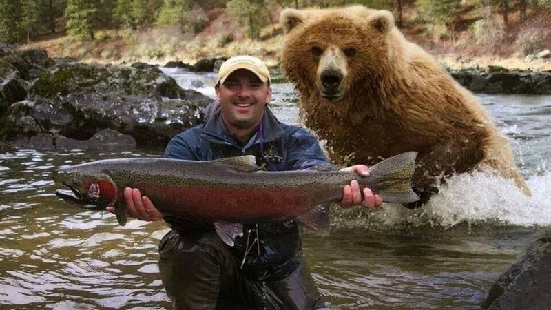 21 НЕВЕРОЯТНОЕ ВИДЕО СНЯТОЕ НА РЫБАЛКЕ Медведь на рыбалке