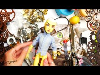 Кукла в стиле СТИМПАНК  ООАК Безумный Макс Кастом механические крылья steampunk ooak repaint