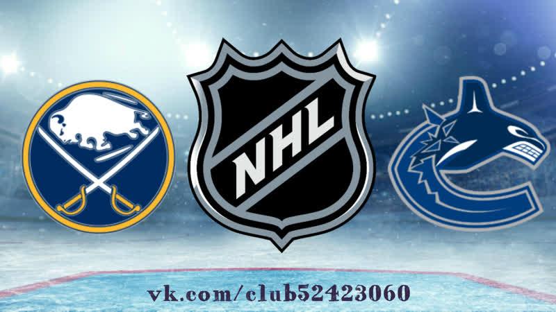 Buffalo Sabres vs Vancouver Canucks 18 01 2019 NHL Regular Season 2018 2019