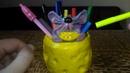 Подставка для карандашей из соленого теста / Stand for pencils made of salted dough and cat Murzik