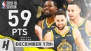 BEST of Stephen Curry, Klay Thompson Durant vs Grizzlies 2018.12.17 | NBA Highlights