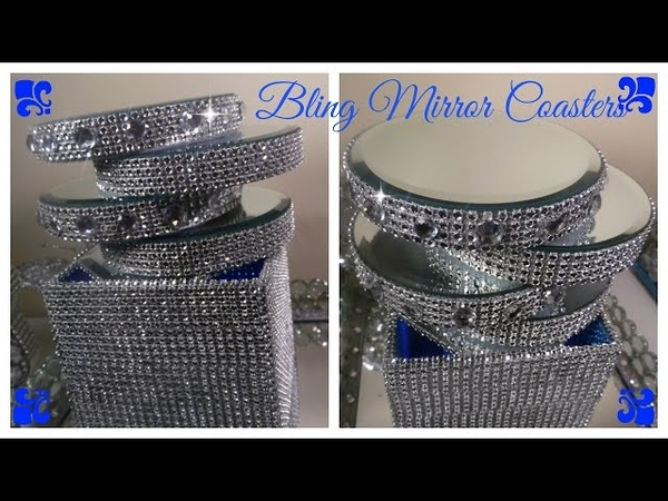 💎 DIY - BLING MIRROR COASTERS - DOLLAR TREE CRAFT / WEDDINGS/ PARTIES/ BRIDAL SHOWERS (BQ EP 8)