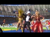 Shakira Clausura mundial Brasil 2014 La la la Ft Carlinhos Brown HD