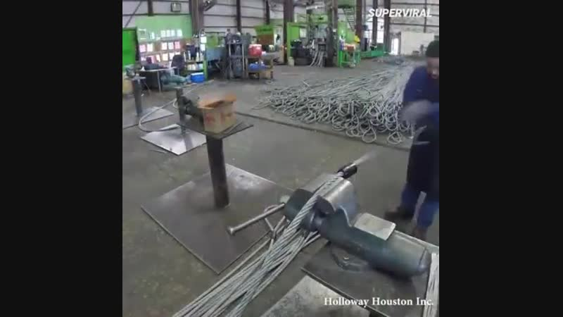 Как делают стальной трос.