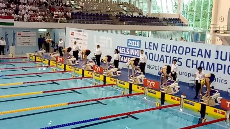 200 брасс полуфинал Европа 2018 юниоры