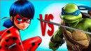ЛЕДИ БАГ И СУПЕР КОТ VS ЧЕРЕПАШКИ НИНДЗЯ СУПЕР РЭП БИТВА Miraculous 2 season VS Ninja Turtles