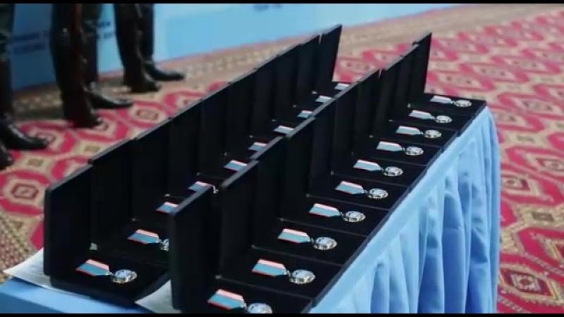 Ішкі істер министрі полиция генерал-полковнигі Қасымов Қалмұханбет Нұрмұханбетұлы қызылордалық батыр балаға медаль тақты Юного