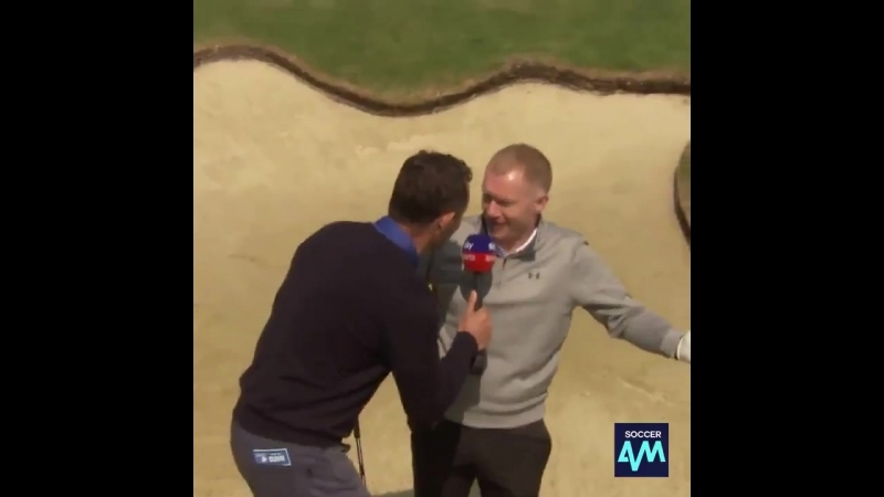Paul Scholes' pinpoint accuracy even on the golf course - - Legend! - - MUFC - -
