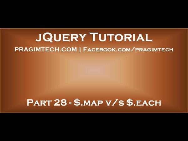 Difference between each and map in jquery