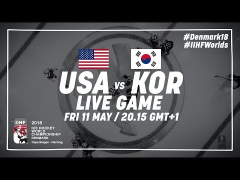 USA - Korea | Live | 2018 IIHF Ice Hockey World Championship