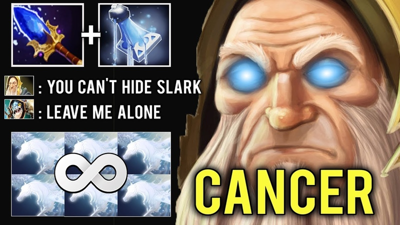 MOST ANNOYING SKILL Cancer KotL Mid Illuminate Mana Leak Spam Crazy Game by Afromoush Dota 2