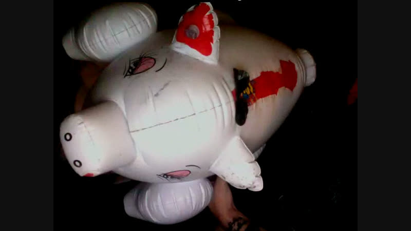 BlowUp Inflatable Love pig - Test its brand new EAR puff and hiss valve