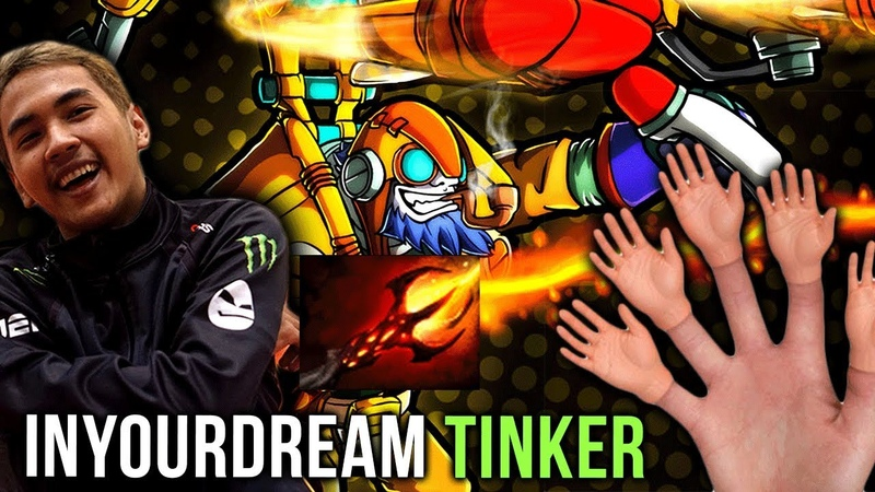 TOP-1 RANK inYourdreaM Back on His Signature Hero Tinker Super Fast Hands - WHAT A GAME! Dota 2