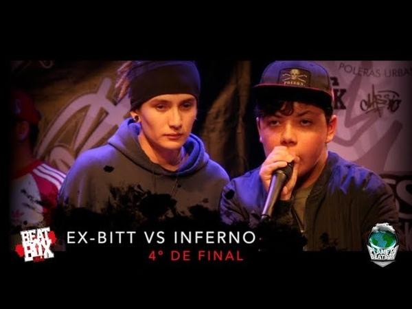 Ex-bitt vs Inferno   4º de final   Campeonato Nacional Beatbox Chile 2018.