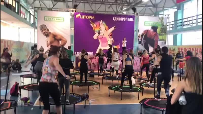 Мастер класс фитнес на батутах GYMX
