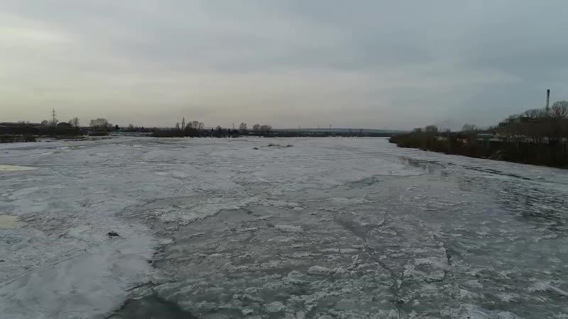 Канск Река Кан с высоты в черте города