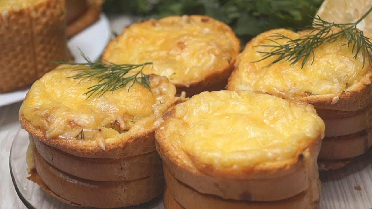 Ленивая жена: пирожки из багета с грибами, рецепт с фото