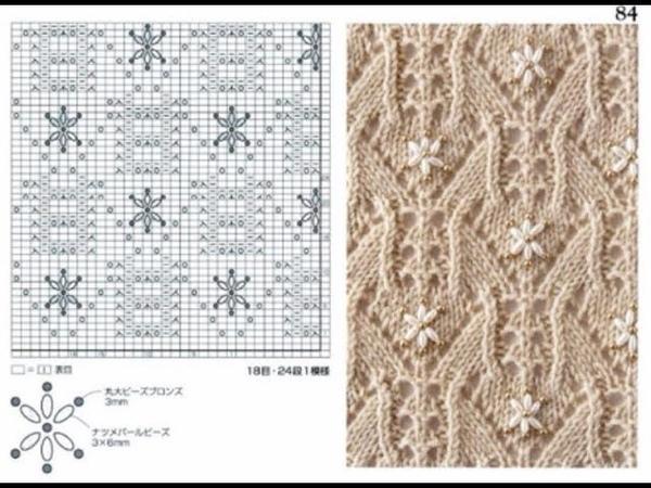 Шикарные схемы узоров для спиц. С 81 по 90. Книга 260 узоров Хитоми Шида