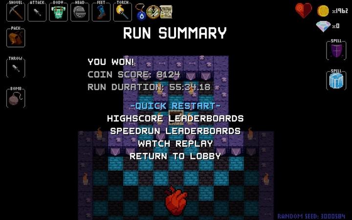 Crypt of the Necrodancer Story mode Run
