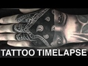 TATTOO TIME LAPSE GANGSTER GIRL ON HAND CHRISSY LEE